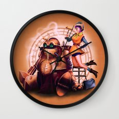 Lucca and Robo Wall Clock