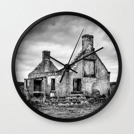 Derelict Croft Wall Clock