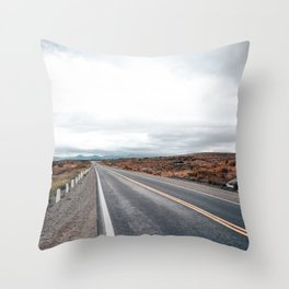 Patagonic road Throw Pillow