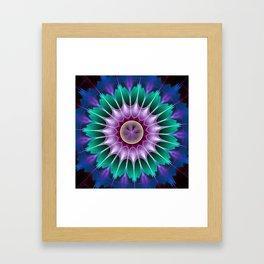 Starry kaleidscope flower Framed Art Print
