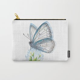Blue & White Butterfly Carry-All Pouch