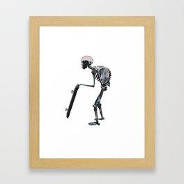 old school skateboarder or maybe just old  Framed Art Print