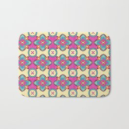 Lily Pulitzer Inspired Spanish Tiles Pattern Bath Mat