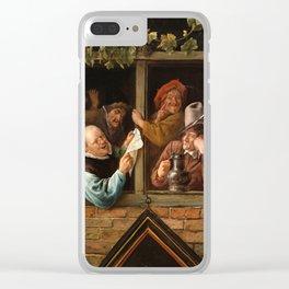 "Jan Steen ""Rhetoricians at a Window"" Clear iPhone Case"