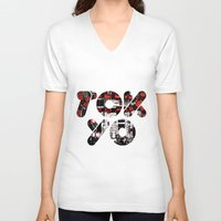tokyo V-neck T-shirts featuring TOKYO by xDenisx