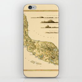 Map Of Curacao 1794 iPhone Skin