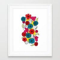 scandinavian Framed Art Prints featuring Scandinavian Flowers by Meredith Art/Design