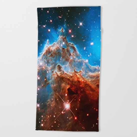 Monkey Head Nebula Beach Towel