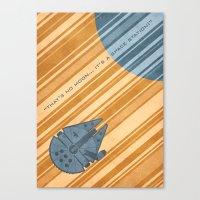 millenium falcon Canvas Prints featuring Millenium Falcon by Szoki