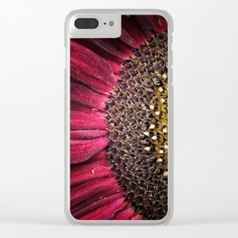 Half red Clear iPhone Case