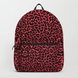 Red leopard Backpack