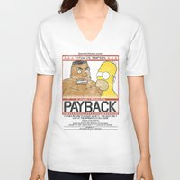 simpson V-neck T-shirts featuring Tatum vs Simpson: Payback by htsvll