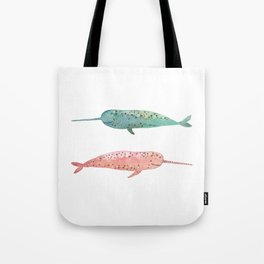Narwhals on their way Tote Bag