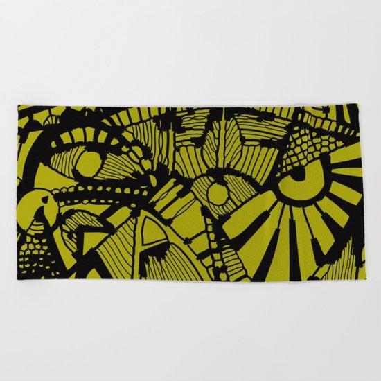 INK#2 Look me in the Eye #Owl Beach Towel