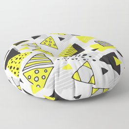 Triangles, random triangles (on white) Floor Pillow
