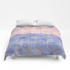 Rose Quartz & Serenity Cubes Comforters