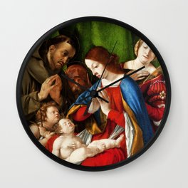 Lorenzo Lotto - Adoration of the Christ Child Wall Clock