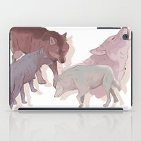 wolves iPad Cases featuring wolves by Devon Busby Busbyart