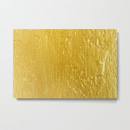 Luxury Solid Gold Paint Texture Metal Print