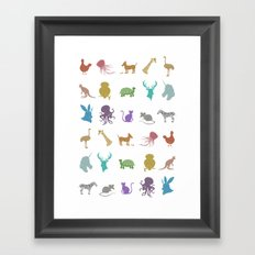 Glitter Animals A Framed Art Print