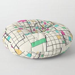 Colorful City Maps: Oklahoma City, USA Floor Pillow
