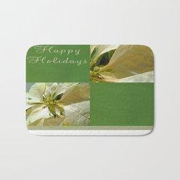 Pale Yellow Poinsettia 1 Happy Holidays Q5F1 Bath Mat