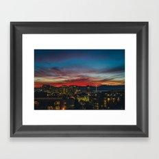 Seattle Sunset Framed Art Print