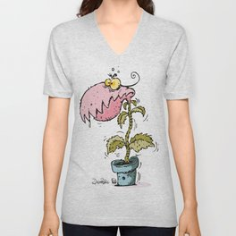 cannibal plant Unisex V-Neck