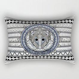 Aztec Cyberman Tardis Doctor who pencils sketch Rectangular Pillow