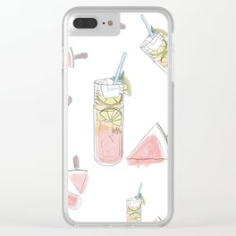 Summer Treats Clear iPhone Case