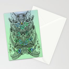 Little Birds and big brother Owl Stationery Cards
