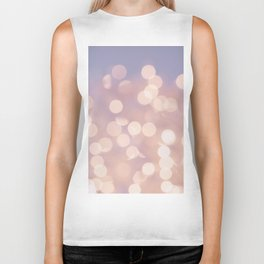 Light Pink Blurry Lights (Color) Biker Tank