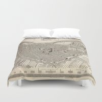 amsterdam Duvet Covers featuring Amsterdam by Le petit Archiviste