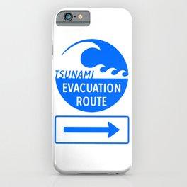 Tsunami Evacuation Route iPhone Case