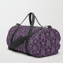 Halloween Damask Violet Duffle Bag