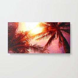 Sun Spilled Palms Metal Print