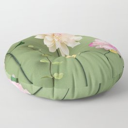 Crepe paper flowers Floor Pillow