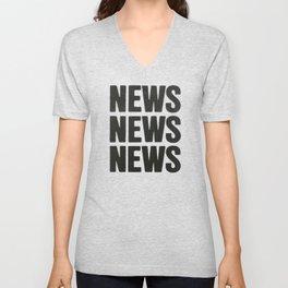 News News News Unisex V-Neck