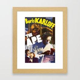 The Ape, vintage horror movie poster Framed Art Print