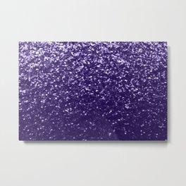 Dark ultra violet purple glitter sparkles Metal Print