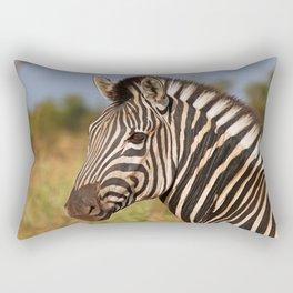 The Zebra, Africa wildlife Rectangular Pillow