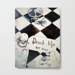 drink me NOT poison Metal Print