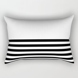 Half Stripes Rectangular Pillow