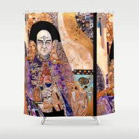 klimt Shower Curtains featuring Klimt Londo by Lady Yate-xel