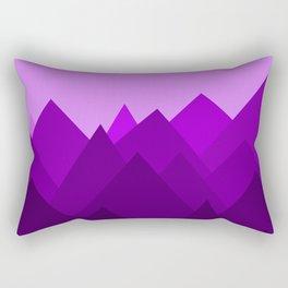 Abstract Purple Alien Landscape Rectangular Pillow