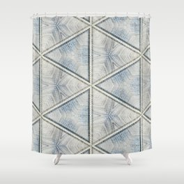 Powder Blue Equilaterals Shower Curtain