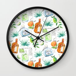 Classic Margarita Cocktail Recipe Wall Clock