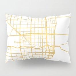 MIAMI FLORIDA CITY STREET MAP ART Pillow Sham