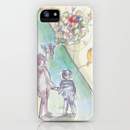 'Balloons' Watercolor Illustration Painting iPhone Case