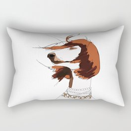Messy Hair Don't Care Dog Rectangular Pillow